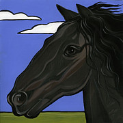 Friesian Horse Framed Prints - Friesian Framed Print by Leanne Wilkes