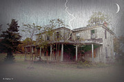 Haunted House Photo Posters - Frightening Lightning Poster by Brian Wallace