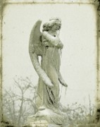 Statue Portrait Digital Art Prints - Frigid Angel Print by Gothicolors And Crows