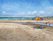 Oceanscape Paintings - Fripp Island Beach by Erik Schutzman