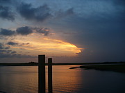 Fripp Prints - Fripp Marsh Sunset Print by Stella Schaefer