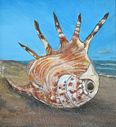 Shell Sculptures - Friscos Shell by Coastal Fine Artistry