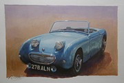 Sportscar Painting Prints - Frogeye  Print by Mike  Jeffries