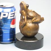 Animal Sculpture Originals - Froggyball number two by Steve Worthington