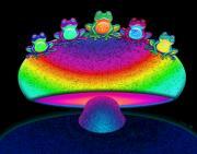 Nick Gustafson - Frogs and Rainbow Mushroom