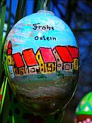 Happy Easter Framed Prints - Frohe Ostern Framed Print by Juergen Weiss
