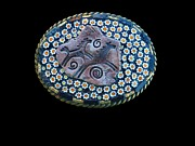 Mosaic Jewelry - Frolicking Horses Amid Murano Millefiori Mosaic Belt Buckle by Katherine Sutcliffe