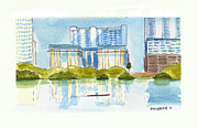 Shores Painting Originals - From Auditorium Shores by Robb McKenzie