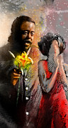 Soul Musicians Posters - From Barry White With Love Poster by Miki De Goodaboom