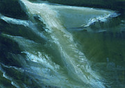 Beautiful Creek Painting Originals - From darkness to light by Anil Nene