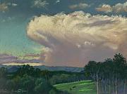 Evening Pastels - From Lansdowne Evening Thunderhead by Louise Green