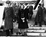 1940s Candid Photos - From Left, Front, Adolf Hitler, Eva by Everett