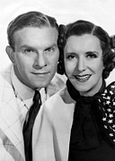 Gracie Posters - From Left George Burns, Gracie Allen Poster by Everett