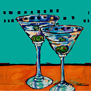 Olives Framed Prints - From One Dirty Martini To Another  Framed Print by Dale Moses