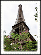 The Eiffel Tower Prints - From Paris With Love Print by Carol Groenen
