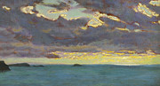 Stormy Weather Paintings - From Pentire Point by Arthur Hughes