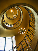 Spiral Staircase Photos - From the Bottom by Steven Ainsworth