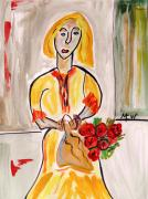 Pennsylvania Artist Drawings - From the Flower Market by Mary Carol Williams