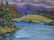 Shimmering Paintings - From the Island to the Island at Steamboat Lake State Park Colorado by Zanobia Shalks