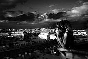 Gargoyle Art - From the Rooftop by Cabral Stock