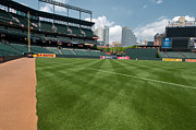 Oriole Park Prints - From the Visitors Dugout Print by Paul Mangold
