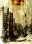Photo Glass Art Originals - From There He lept by Adam Winnie