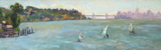 Sausalito Paintings - From Tiburon by Deborah Cushman