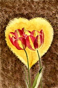 Sympathy Painting Posters - From Tulip With Love Poster by Melly Terpening