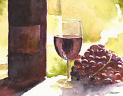 Red Wine Paintings - From Vine To Glass by William Beaupre