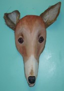 Greyhound Mixed Media Framed Prints - Frondly Greyhound Framed Print by Ellen Burns