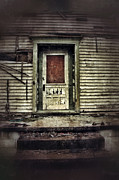 Decaying Prints - Front Door of Abandoned House Print by Jill Battaglia