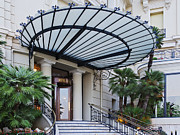 Architectural Detail Framed Prints - Front Entrance of the Hotel de Paris Framed Print by Jeremy Woodhouse