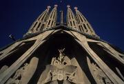 Gaudi Y Cornet Photo Posters - Front Of La Sagrada Familia Poster by Taylor S. Kennedy