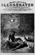 Oppression Prints - Front Page Of 1874 Newspaper Declaring Print by Everett