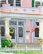 Patriotic Painting Originals - Front Porch by Gale Cochran-Smith