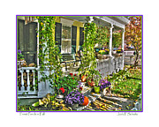Front Porch Photo Framed Prints - Front Porch in Fall Framed Print by Jack Schultz