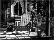 Chair Drawings Originals - Front Porch by Jerry Winick