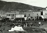 Gold Rush Framed Prints - Front Street Of Dawson City Framed Print by Photo Researchers