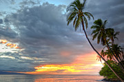 Lahaina Prints - Front Street Sunset Print by Kelly Wade