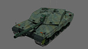 Challenger Model Prints - Front View Of A British Challenger Ii Print by Rhys Taylor