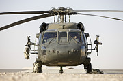 Copy Machine Tapestries Textiles - Front View Of A Uh-60l Black Hawk by Terry Moore