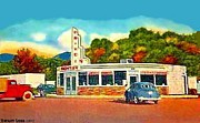 Missoula Prints - Frontier Drivein In Missoula Mt 1952 Print by Dwight Goss