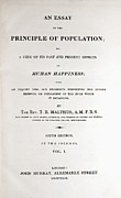 Principle Prints - Frontis Malthus Principle Of Population Print by Paul D Stewart