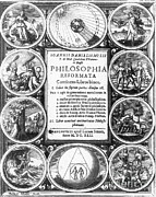 Frontispiece Prints - Frontispiece Of Alchemical Treatise Print by Science Source