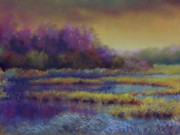 Sun Pastels Originals - Frosty Morning Marsh by Marcus Moller