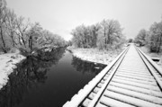 Train Tracks Photo Originals - Frosty Morning On The Poudre by James Steele