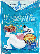 Bear Mixed Media Posters - Frosty Os Poster by Russell Pierce