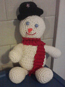 Stuffed Animal Toys Tapestries - Textiles - Frosty the Snowman by Sarah Biondo