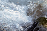 Water Flowing Posters - Froth Poster by Sharon  Talson