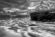 Jupiter Inlet Prints - Frothy Seas Print by Debra and Dave Vanderlaan